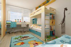 Dětský pokoj v Chýni u Prahy
