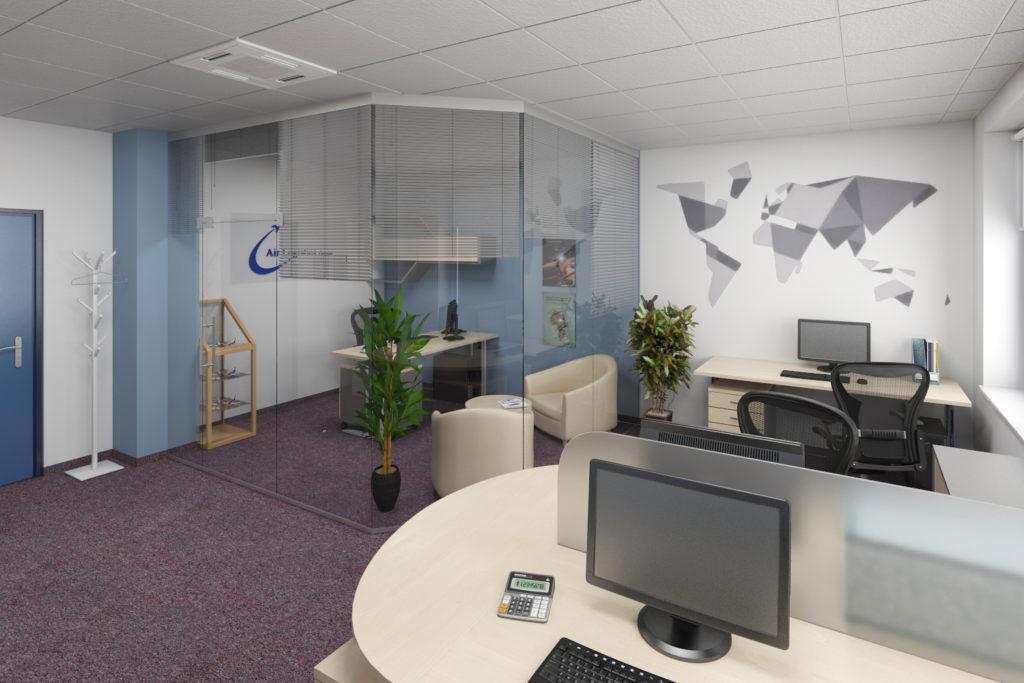 Kancelář mladého kolektivu Air Logistics