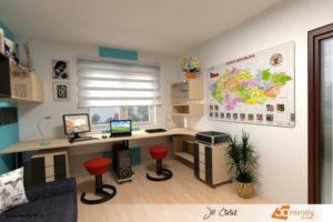 Domácí kancelář v Kolíně