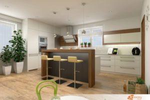 Moderní kuchyně v přírodních barvách - Benešov