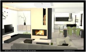 obývací pokoj vč. velké kuchyně