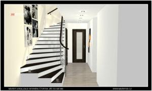 návrh a realizace schodiště v Brné