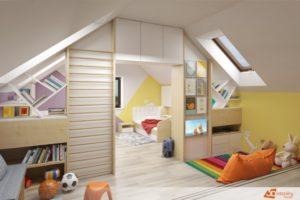 Dětský pokoj pro školáka - Dubeč