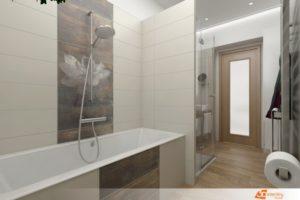 Moderní koupelna v zemitých barvách