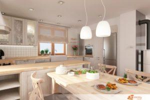 Kuchyně v rustikálním stylu - Slaný