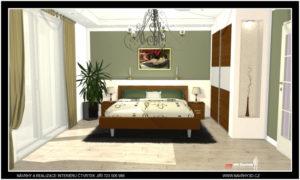 Návrh a realizace ložnice v zámeckém stylu