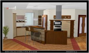 Kuchyně s nepravidelnými tvary a netradičním uspůsobením